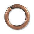 Jump Ring - Open 7.5mm Antique Copper Plated (50-Pcs)