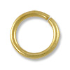 Jump Ring - Open 8mm Satin Hamilton Gold Plated (50-Pcs)