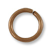 Jump Ring - Open 8mm Antique Copper Plated (50-Pcs)