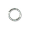 Jump Ring Open 6mm Sterling Silver Filled (4-Pcs)