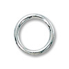 Jump Ring Round Closed 8mm Sterling Silver Filled (2-Pcs)