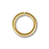 Bright Gold Plated Open Jump Ring 6mm (100-Pcs)