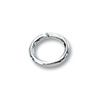 Jump Ring Oval Open 5x4mm Sterling Silver (10-Pcs)