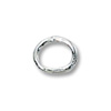 Jump Ring Oval Closed 5x4mm Sterling Silver (4-Pcs)