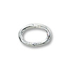 Jump Ring Oval Closed 6x4mm Sterling Silver (4-Pcs)