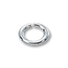 Jump Ring Oval Open 6x4mm Sterling Silver (10-Pcs)