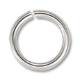 Jump Ring - Open 7.5mm Silver Color (50-Pcs)