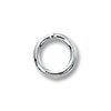 Jump Ring Round Closed 5mm Sterling Silver (4-Pcs)