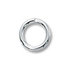 Jump Ring Round Open 6mm Sterling Silver (4-Pcs)