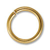 Jump Ring - Open 8mm Gold Color (100-Pcs)
