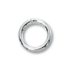 Jump Ring Round Closed 6mm Sterling Silver (2-Pcs)
