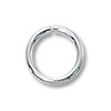 Jump Ring Round Open 7mm Sterling Silver (4-Pcs)
