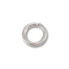 Jump Ring 3mm Open 14k White Gold (1-Pc)