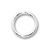 Jump Ring Round Closed 7mm Sterling Silver (2-Pcs)