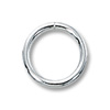 Jump Ring Round Open 8mm Sterling Silver (4-Pcs)