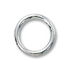 Jump Ring Round Closed 8mm Sterling Silver (2-Pcs)