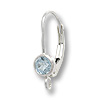 Lever Back Earring with 4mm Sky Blue Topaz Stone Sterling Silver (1-Pc)
