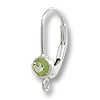 Lever Back Earring with 4mm Peridot Stone Sterling Silver (1-Pc)