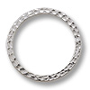 Connector - Hammered Ring 25mm Pewter Bright Rhodium Plated (1-Pc)
