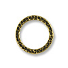 Connector - Hammered Ring 19mm Pewter Antique Brass Plated (1-Pc)