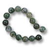 Moss Agate Round Beads 8mm (16