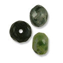 Faceted Moss Agate Rondelle Beads 8x5mm (10-Pcs)