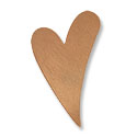 Copper Heart Blank 1-1/2
