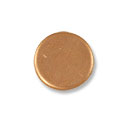 Copper Round 18 Gauge Blank 1/2