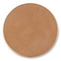 Copper Round 18 Gauge Blank 1-1/2