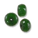 Faceted Malaysian Jade Rondelle Beads 8x5mm Emerald (10-Pcs)
