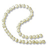 Mother of Pearl Round Beads 4mm Bleached (16
