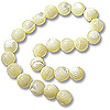 Mother of Pearl Round Beads 8mm Bleached (16
