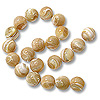 Mother of Pearl Round Bead 8mm Natural (16