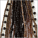 Glass Bead Strands Mix Black and Brown (1-Pc)