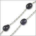Freshwater Pearl Illusion Necklace Black 16