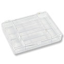 Storage Box 7 Compartment with Snap Lid 1-1/2