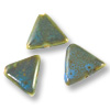 Porcelain Triangle Beads Turquoise 24mm (3-Pcs)