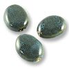 Porcelain Oval Beads Turquoise 32x23mm (3-Pcs)