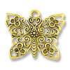 23x28mm Antique Gold Plated Butterfly Pewter Pendant