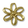 27mm Antique Gold Plated Flower Pewter Pendant