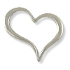 39x32mm Antique Silver Plated Heart Pewter Pendant