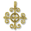 34x28mm Antique Gold Plated Celtic Spiritual Pewter Pendant