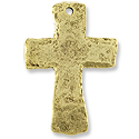 48x33mm Antique Gold Plated Cross Pewter Pendant
