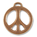 24mm Antique Copper Plated Peace Pewter Pendant