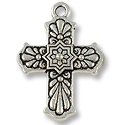 29x21mm Antique Silver Plated Talavera Cross  Pewter Pendant