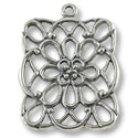 40x35mm Antique Silver Plated Pewter Pendant