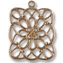 40x35mm Rose Gold Plated Pewter Pendant