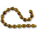 Freshwater Rice Pearl Antique Gold/Copper Mix 6-7mm (16