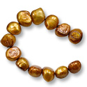 Freshwater Potato Pearl Nugget Antique Gold Mix 9-10mm (16