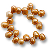 Freshwater Potato Pearl Light Copper 7-8mm Top Drilled (16